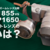 Sony標準ズームレンズSELP1650とSEL1855を比較!その特徴と利用シーン