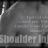 肩を痛めた!筋トレ&減量を中断中
