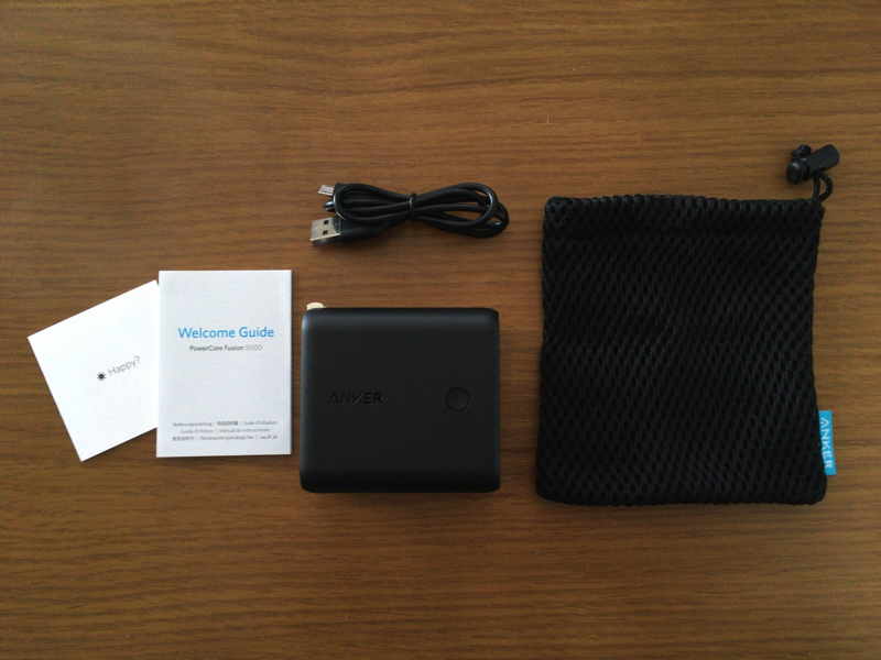 Anker PowerCore Fusion 5000の付属品