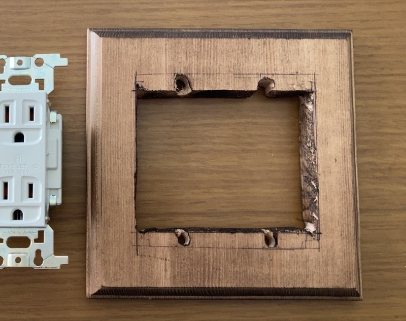 木製コンセントベース