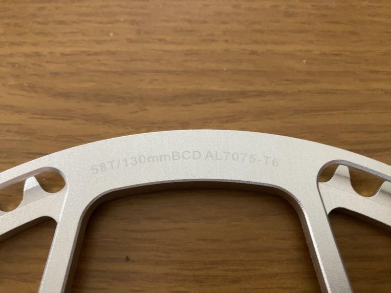 Litepro AL7075-T6 58T/130mmチェーンリング