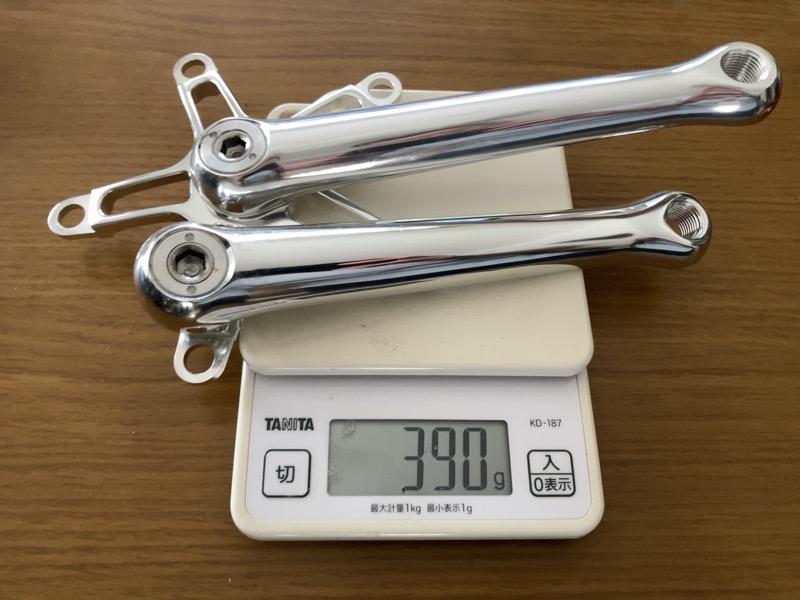 Aceoffixクランク重量