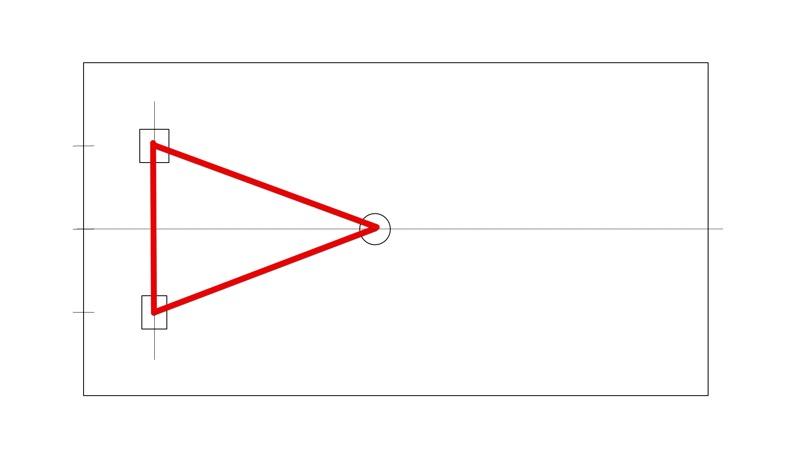 スピーカー配置三角形