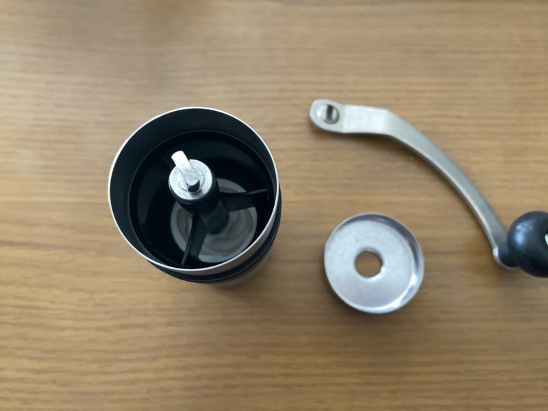 Porlexコーヒーミルmini豆投入口